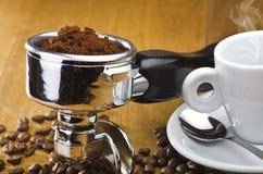 Kawy espresso maszyny przywódca grupy Fotografia Royalty Free