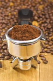 Kawy espresso maszyny przywódca grupy Zdjęcia Stock