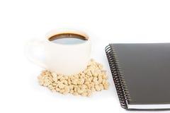Kawy espresso notatka i kawa Zdjęcie Royalty Free