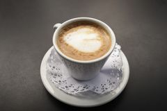 kawy mleka Cortado obrazy stock