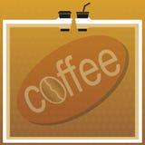 kawy odosobniony menu biel Obraz Royalty Free