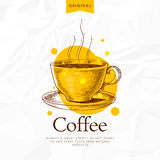kawy odosobniony menu biel Obraz Stock