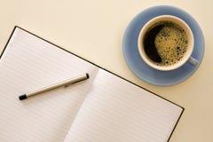 kawy papieru pióro Zdjęcia Royalty Free