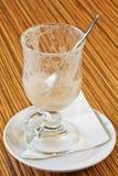 kawy puste froth kubka resztki Zdjęcie Royalty Free