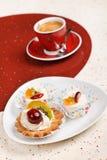 kawy tortowa owoc Fotografia Stock