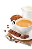 kawy tortowy mleko Fotografia Royalty Free
