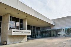 Kay Bailey Hutchison Convention Center in Dallas, TX royalty-vrije stock afbeelding
