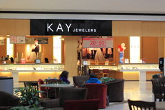 Jewelry Store. Kay Jewelers, fine jewelry chain store with more than 900 stores in United States stock photo