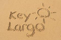 Kay Largo i sanden Royaltyfri Foto