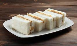 Kaya with butter sandwich Stock Photo