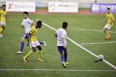 Kaya contra sementales - liga unida fútbol Filipinas de Manila Foto de archivo libre de regalías