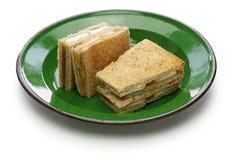 Kaya jam toast sandwich. Singaporean malaysian breakfast Stock Image
