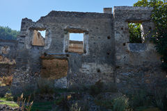 Kayaköy, antico conosciuto come Lebessos e Lebessus in Lycia Turkey Immagine Stock