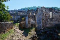 Kayaköy, antiguo conocido como Lebessos y Lebessus en Lycia Turkey imagen de archivo