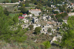 Kayaköy, antiguo conocido como Lebessos y Lebessus en Lycia Turkey fotos de archivo