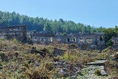 Kayaköy, conhecido antigamente como Lebessos e Lebessus em Lycia Turkey Fotos de Stock Royalty Free