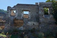 Kayaköy som anciently är bekant som Lebessos och Lebessus i Lycia Turkey Fotografering för Bildbyråer