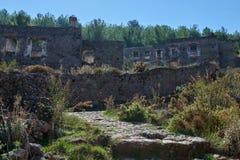 Kayaköy som anciently är bekant som Lebessos och Lebessus i Lycia Turkey Arkivfoto