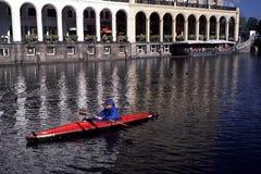 Kayak à Hambourg, Allemagne Image libre de droits