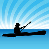 Kayak. An image of a person in a kayak Stock Image