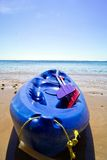 Kayak. Sitting on the beach Stock Image