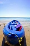 Kayak. Sitting on the beach stock image