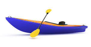Kayak. On white background. 3d rendered image Royalty Free Stock Photos