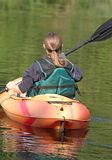 In a kayak Stock Photo