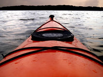Kayak. Point of view from kayak cockpit Stock Photography