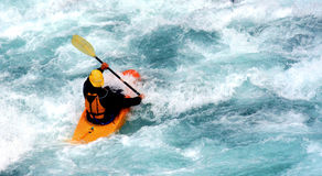 Kayak. A kayaker Stock Photos