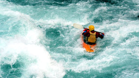 Kayak. A kayaker Stock Images
