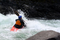 Kayak. A kayaker Royalty Free Stock Images