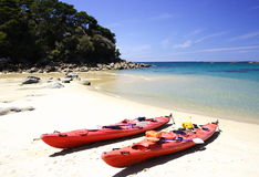 Kayak in Abel Tasman. Kyyak in Abel Tasman National Park, New Zealand, in Nov 2007 Stock Photography