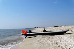 Kayak ashore Royalty Free Stock Image