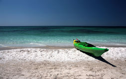 Kayak on the beach Royalty Free Stock Photography