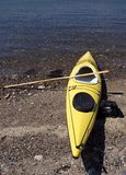 Kayak on beach Royalty Free Stock Photography
