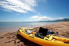 Kayak on beach Royalty Free Stock Photo