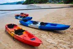 Kayak beach Stock Image