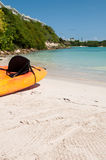 Kayak on beach Royalty Free Stock Photos