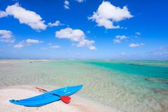 Kayak on a beach Royalty Free Stock Images