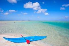 Kayak on a beach Royalty Free Stock Photos