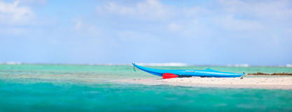 Kayak on a beach Royalty Free Stock Photos