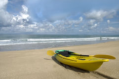 Kayak on beach Stock Image