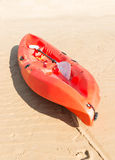 Kayak on beach Stock Photos