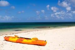 Kayak at beach Royalty Free Stock Images