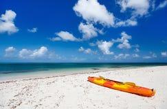 Kayak at beach Royalty Free Stock Image