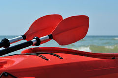 Kayak on the beach Stock Photo