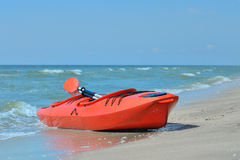Kayak on the beach Stock Images