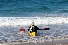 Kayak on the beach Stock Photography