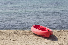 Kayak in the beach Stock Images